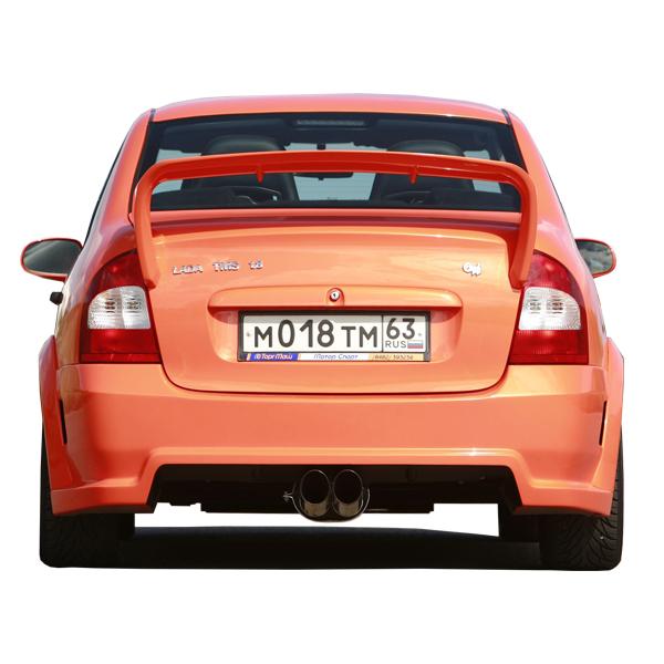Задний бампер TMS-GTI на ВАЗ (Lada, Лада) 1118 (лада калина седан).